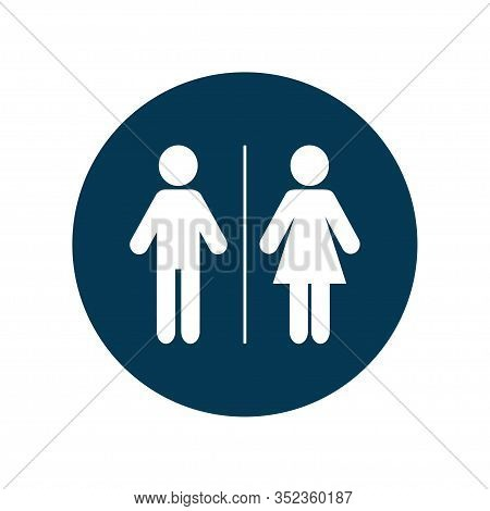 Toilet Male And Female Icon Isolated. Vector Illustration