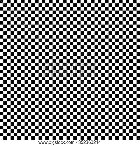 Checkered Seamless Pattern, Chess Background. Vector Illustration