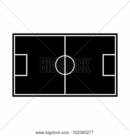 Soccer Field Icon Vector Isolated On White Background