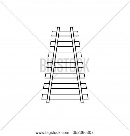Railway Icon, Railroad Icon Isolated On White Background. Vector Illustration