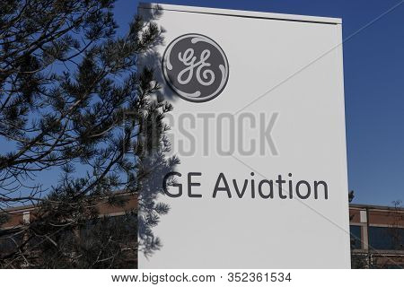 Cincinnati - Circa February 2020: General Electric Aviation Facility. Ge Aviation Is A Provider Of G