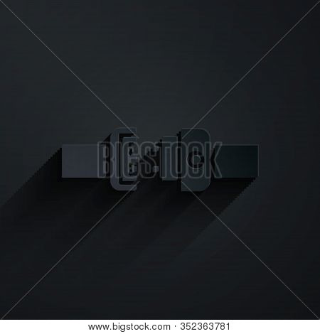 Paper Cut Safety Belt Icon Isolated On Black Background. Seat Belt. Paper Art Style. Vector Illustra