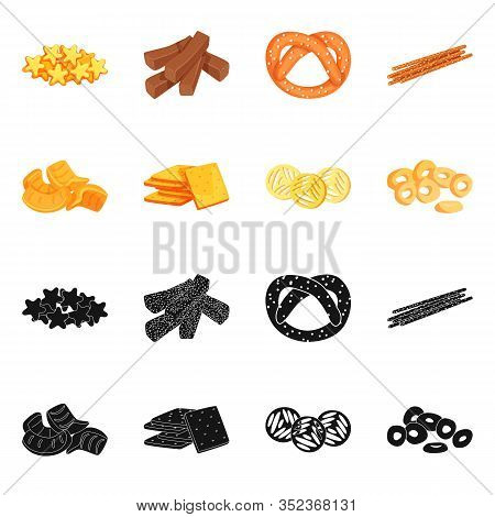 Vector Design Of Oktoberfest And Bar Sign. Set Of Oktoberfest And Cooking Stock Symbol For Web.