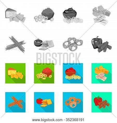 Vector Illustration Of Taste And Seasonin Logo. Set Of Taste And Organic Stock Symbol For Web.