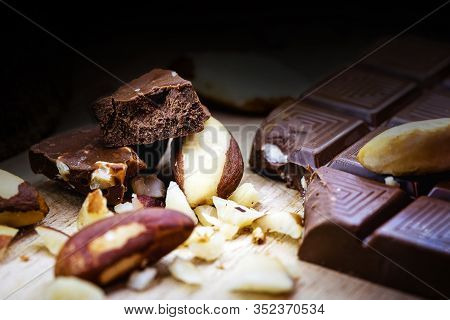Brazilian Chocolate With Amazon Nuts. Known In Brazil As