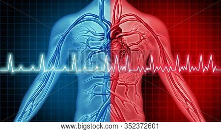 Atrial Fibrillation Disorder Heart Problem And Ecg As A Coronary Cardiac Attack With Irregular And N