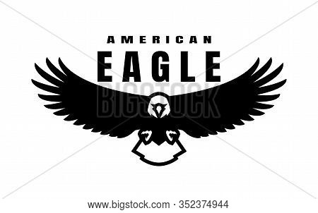 American Eagle. Flying Bird Logo, Simbol. Vector Illustration.