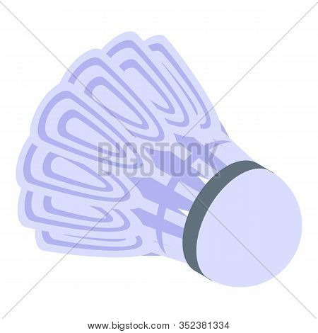 Sport Shuttlecock Icon. Isometric Of Sport Shuttlecock Vector Icon For Web Design Isolated On White