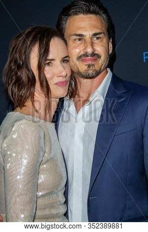 Juliette Lewis and Brad Wilk arrive at the