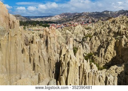 Valle de la Luna in La Paz,Bolivia. Unusual natural landscapes beautiful place travel
