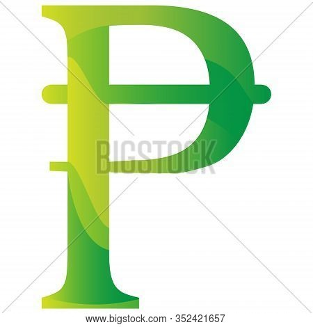 Spain Pesetas Currency Symbol Icon Vector Illustration On A White Background