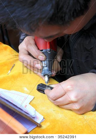 Chinese Street Engraver