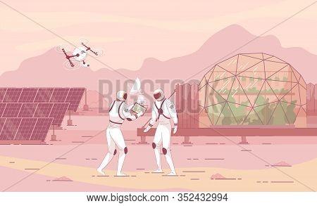 Informational Flyer, Colonization New Planet. Creation Autonomous Human Settlements Other Planets. P