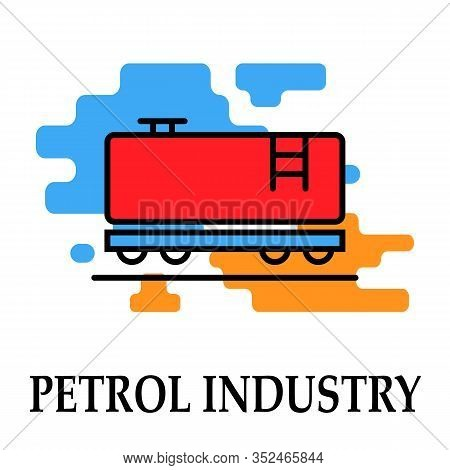 Petrol Industry Transportation Icon Symbol Oil And Petrol Imodern Bright Color.fuel, Diesel, Petrol,
