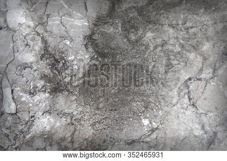 Dark Textured Stone Surface, Close Up Image