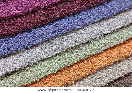 Samples Of Carpets In The Shop