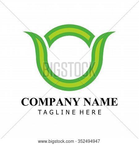 Natural Letter O Modern Alphabet Green Logo Vector With Leaf. Organic Leaf Letter O Green Logo. Agri