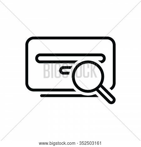 Black Line Icon For Search Investigation Find Quest Research Inquest Scrutiny Discovery