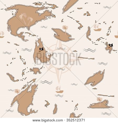 Fantasy, Background, Marks, Game, Track, Geography, Plan, Discovery, Historical, Navigation, Decorat