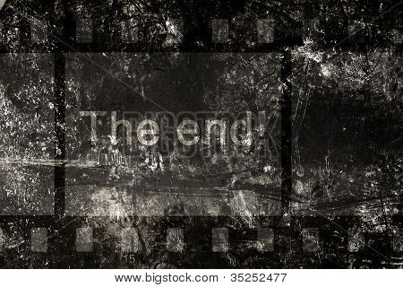 The End On A Grunge Background