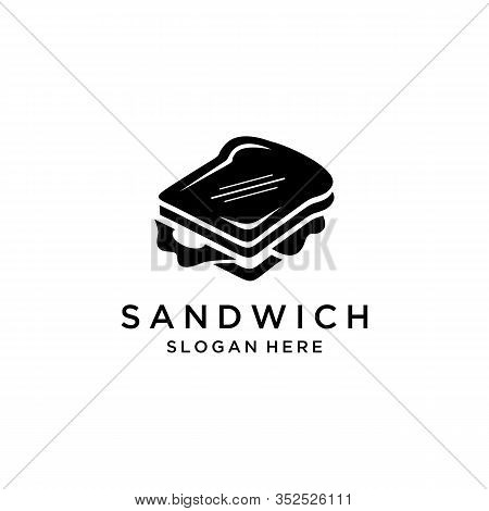 Sandwich Icon Isolated On Clean Background. Sandwich Icon Concept Drawing Icon In Modern Style. Vect