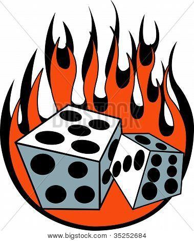 Dice Flames Clip Art