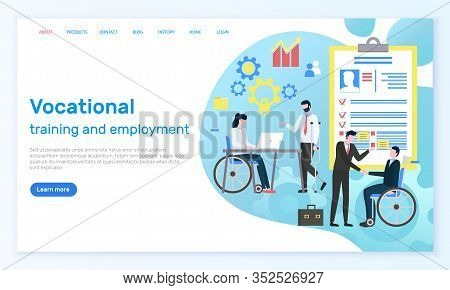 Website Of Vocational Training And Employment. Career And Medical Insurance For Disabled People. Man