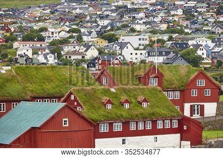 Feroe Islands Capital, Torshavn. Harbor And Downtown. Streymoy South Area