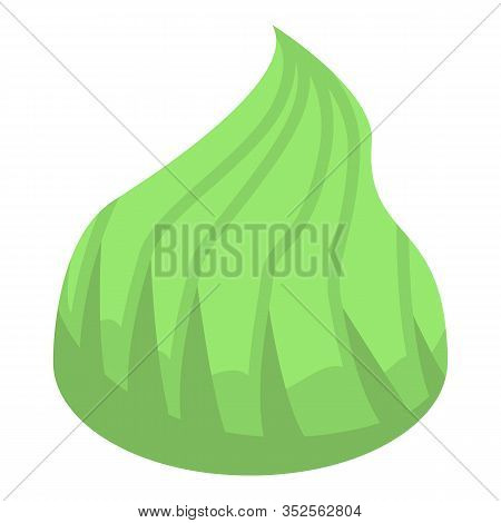 Green Wasabi Icon. Isometric Of Green Wasabi Vector Icon For Web Design Isolated On White Background