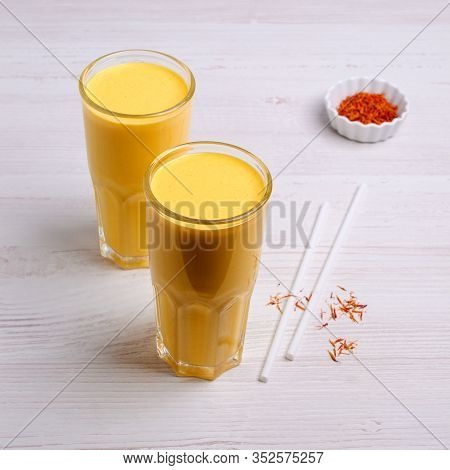 Yellow Smoothie In Glass