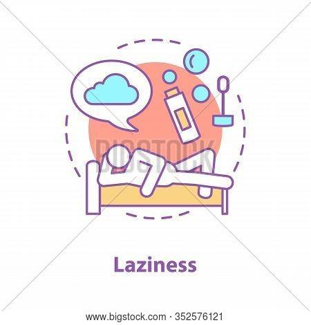 Sloth Concept Icon. Laziness. Procrastination. Wasting Time Idea Thin Line Illustration. Rest. Vecto