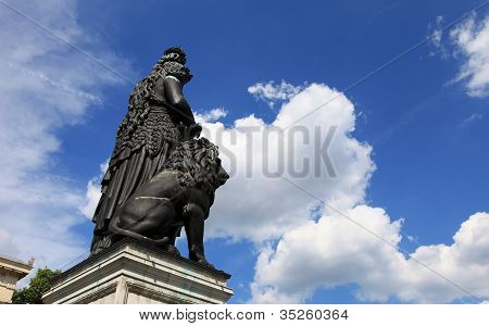 Bavaria statue on the Theresienwiese in Munich