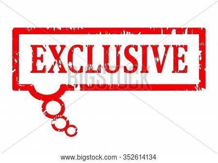 Scratched Red Stamp With The Word Exclusive