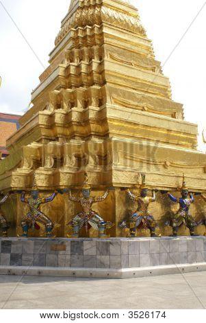 Statues Outside Wat Phra Kaew, Bangkok, Thailand