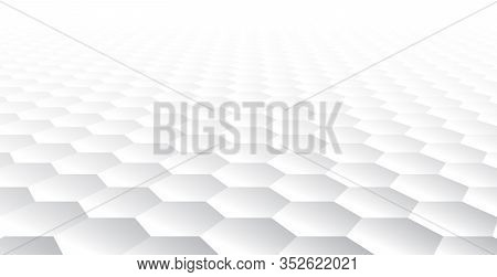 Perspective Gray And White Gradient Grid Mosaic Background. Creative Design Templates. Bright 3d Wal