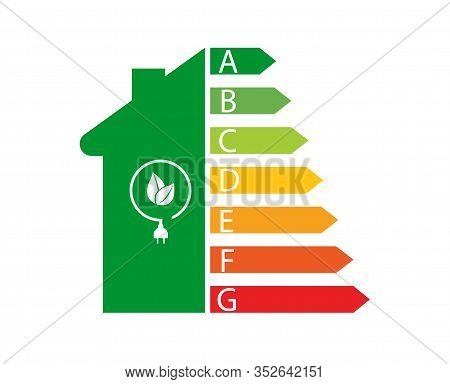 Energy Efficiency And Home Improvement Concept - Vector Illustration.