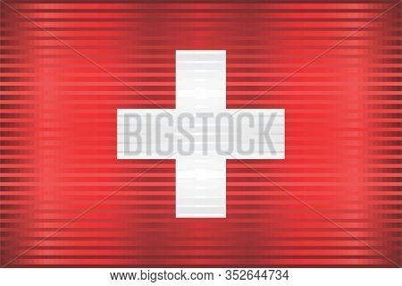 Shiny Grunge Flag Of The Switzerland - Illustration,  Three Dimensional Flag Of Switzerland