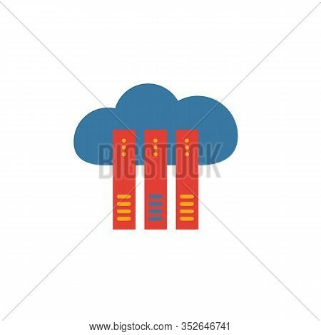 Cloud Hosting Icon. Simple Element From Web Hosting Icons Collection. Creative Cloud Hosting Icon Ui