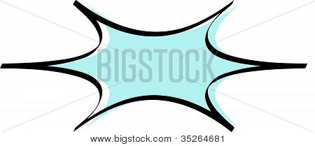 Comic Book Starburst or Burst Border Background Clip Art