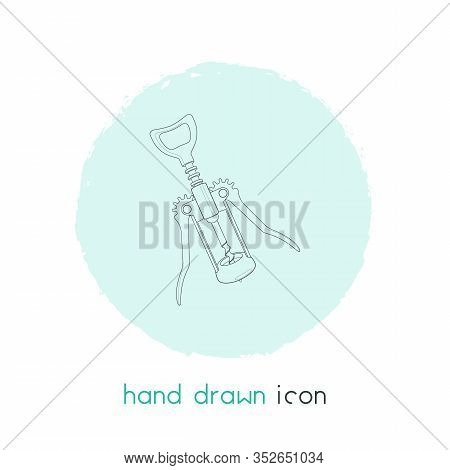 Corkscrew Icon Line Element. Vector Illustration Of Corkscrew Icon Line Isolated On Clean Background