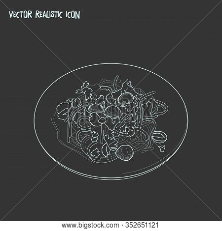 Noodles Icon Line Element. Vector Illustration Of Noodles Icon Line Isolated On Clean Background For