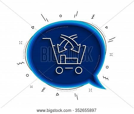 Cross Sell Line Icon. Chat Bubble With Shadow. Market Retail Sign. Thin Line Cross Sell Icon. Vector