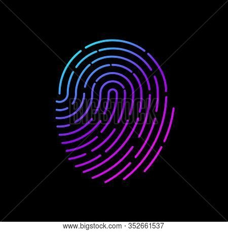 Fingerprint, Scans Fingerprint, Fingerprint On The Phone - Vector