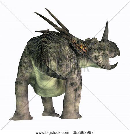 Styracosaurus Dinosaur Tail 3d Illustration - Styracosaurus Was A Herbivorous Ceratopsian Dinosaur T