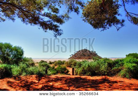 Lake Ballard-(salt pan) in the northern goldfields (desert region) of Western Australia.