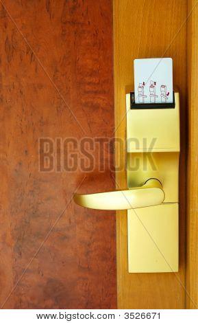 Door With   Security Card.