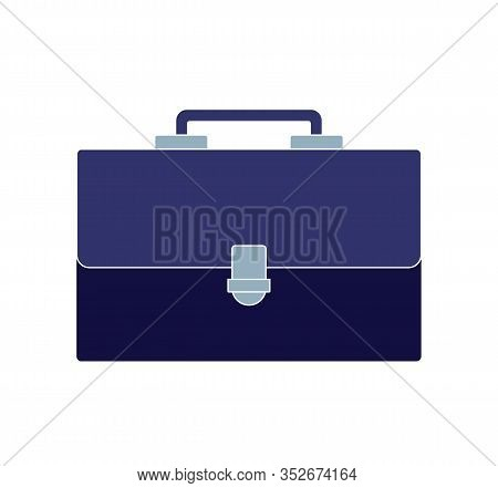 Briefcase In Flat Style, Business Portfolio, Briefcase For Business.