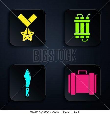 Set Military Ammunition Box, Military Reward Medal , Military Knife And Detonate Dynamite Bomb Stick