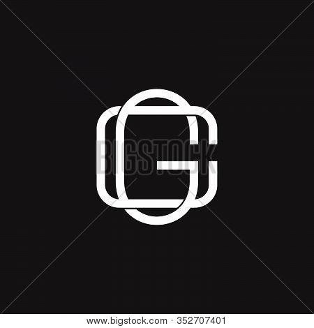 Letter Cg Flat Overlapping Linear Symbol Logo Vector