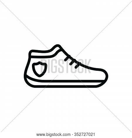 Black Line Icon For Shoe Boot Footwear Brogue Footgear Sneakers Jogging-shoes Fashion Trainers Walki